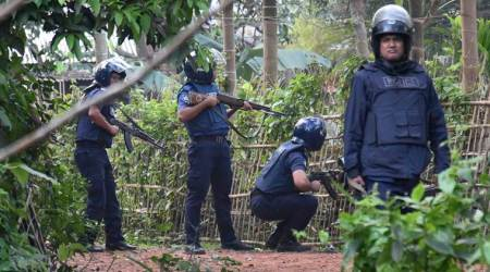 Three militants blow themselves up during crackdown in Bangladesh