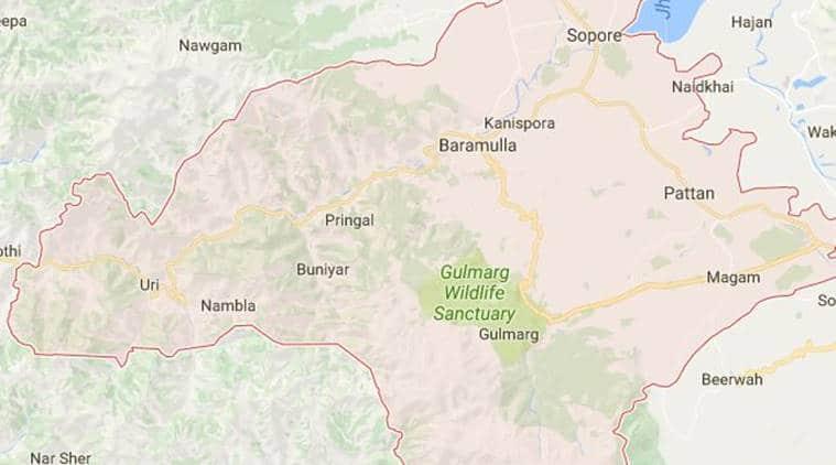 police seize truck, police seize truck in Kashmir, trucks with arms seized in Kashmir, LOC, URI, Terrorists arms seized, Kashmir police, indian express news