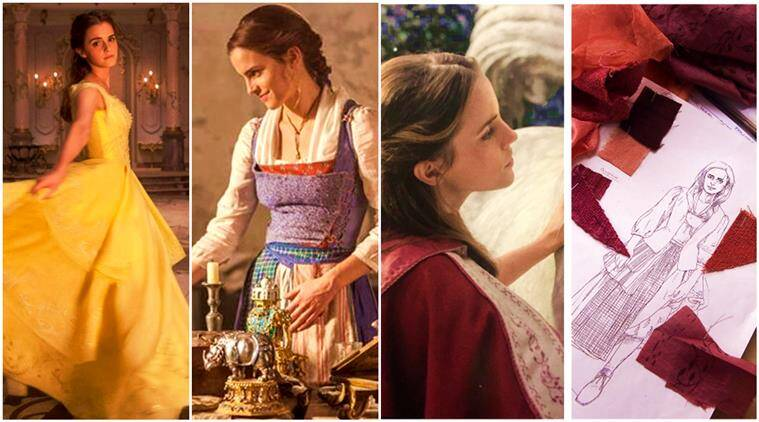 emma watson, beauty and the beast, beauty and the beast costumes, emma watson costumes, belle emma watson, Sinéad O'Sullivan, Sinéad O'Sullivan costumes, Sinéad O'Sullivan beauty and the beast, beauty and the beast india connection, beauty and the beast india costumes, beauty and the beast costumes made in india, indian express, indian express news