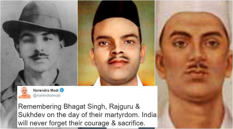 martyr's day, bhagat singh, shaheed rajguru, sukhdev, martyr's day bhagat singh, martyr's day bhagat singh sukhdev, martyr's day twitter wishes, martyr's day twitter reactions, martyr's day tweets 2017, indian express, indian express news, india news, trending, trending news