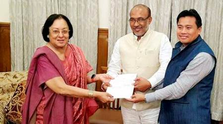 Imphal, Manipur anti-corruption cell, anti-corruption cell Manipur, Manipur Cabinet meeting, Nongthombam Biren Singh Cabinet meet, Manipur CM holds first Cabinet meet, India news