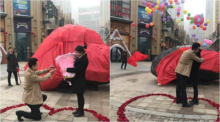 china, bizarre marriage proposal, unique marriage proposal, unusual marriage proposals, bizarre wedding proposal, china bizarre marriage proposal, man propose with giant rock, man propose with 33-ton meteorite, bizarre news, weird news, viral news, latest news