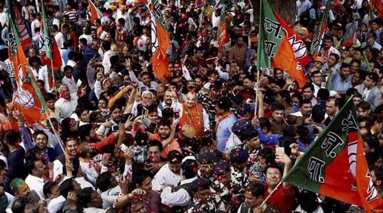 election results 2017, BJP, BJP elections, Bhartiya janata party, amit shah, Narendra Modi, Modi, PM Modi, Rajnath singh, keshav prasad Maurya, election campaigns, BJP election rallies, BJP campaigns, ram mandir, ram temple, Uttar pradesh, UP polls 2017, UP election results, UP BJP, india news, indian epxress news