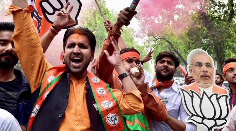 UP results, UP BJP, Ghazia Assembly seats, BJP victory win in UP, BJP thumping win in UP, UP election results, indian express news