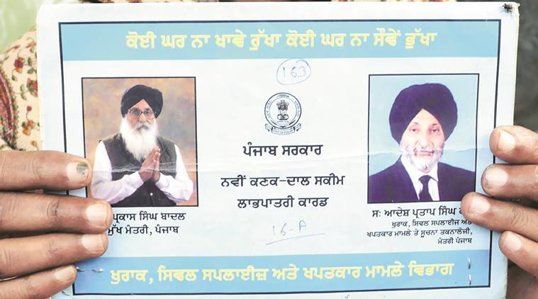 punjab blue card, new blue card, blue card images, Parkash Singh Badal, Adesh Partap Singh Kairon, chandigarh news, punjab news, india news, indian express news