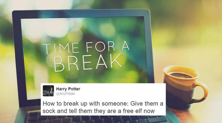 break up, relationship break up, divorce, break up songs, break up texts, break up tweets, how to deal with break up, funny break up quotes, funny break up texts, funny break up tweets, break up mantra, indian express, indian express news