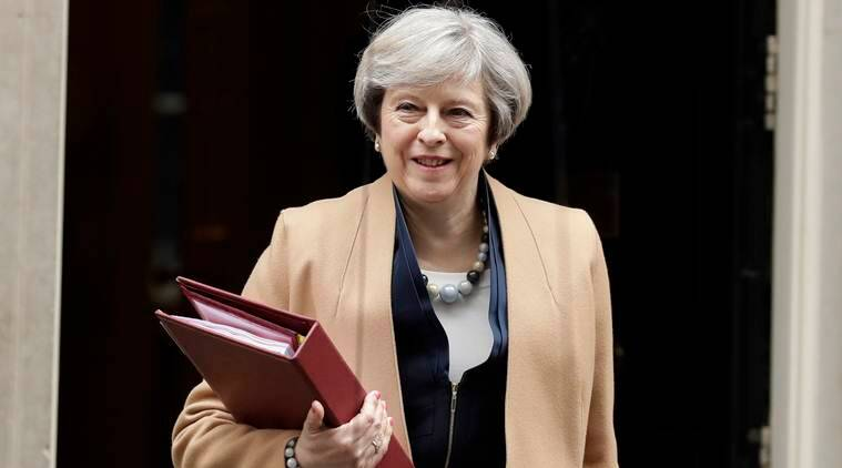 theresa may, world leaders on macron victory, british pm on france election, england france relations, world news, indian express