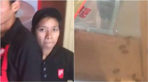cafe coffee day, ccd worker slap. cockroach in ccd coffee, ccd worker slap customer for cockroach, cafe coffee day cockroach in coffee, india viral videos, indian express, indian express news, trending news, viral news