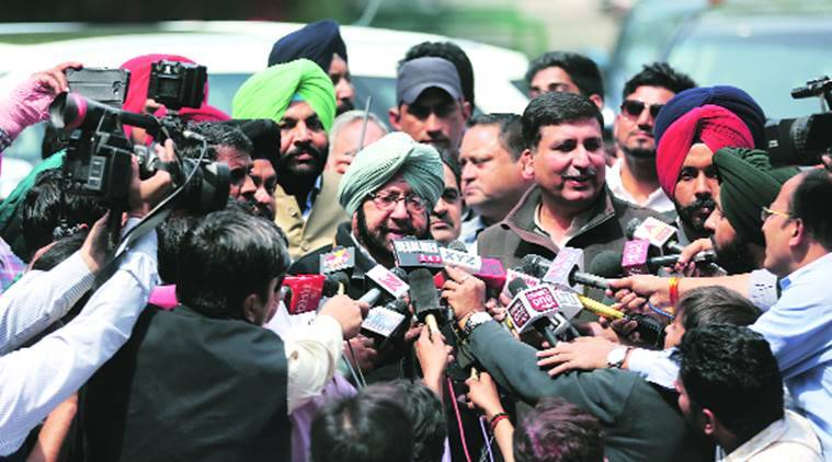 captain to take oath, punjab cm captain amarinder singh, assembly elections 2017, punjab election results 2017, punab election results, goa election results, manipur election results, captain amarinder singh, rahul gandhi, indian express, india news