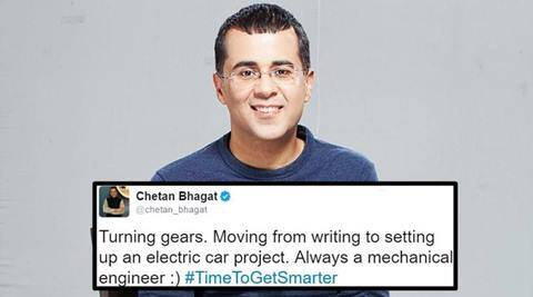 chetan bhagat, chetan bhagat twitter, chetan bhagat twitter turning gears tweet, chetan bhagat tweet break from writing, chetan bhagat break from writing viral tweet, chetan bhagat on a break, chetan bhagat twitter trolls, indian express, indian express news, trending in india, viral