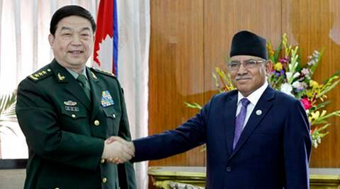 China, Nepal, China-Nepal, chinese defence minister, General Chang Wanquan, People's Liberation Army, PLA, Kathmandu, 19-member delegation, goodwill visit, Defence Minister Balkrishna Khand, nepal pm Prachand, world news, indian express news