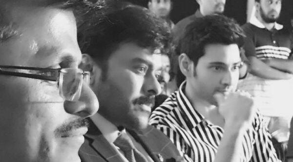 Megastar Chiranjeevi with Mahesh Babu and Murugadoss film