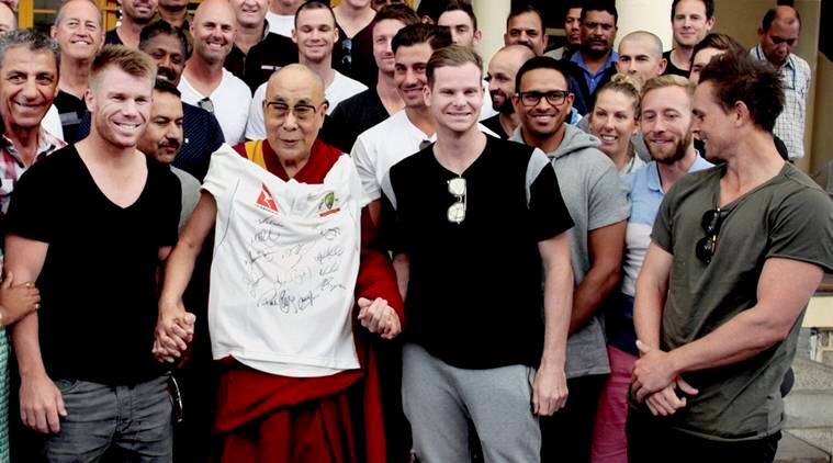 india vs australia, ind vs aus, india australia test, india australia test series, india australia tests, ind vs aus test matches, steve smith, steve smith dalai lama, dalai lama, cricket news, sports news
