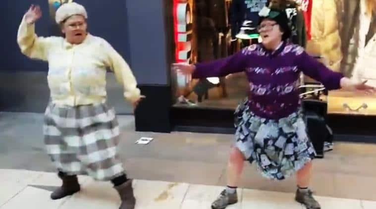 bhangra, granny bhangra in britain, bhangra-dancing british old women video viral, bhangra british old women viral video, indian express, indian express news, viral videos, trending