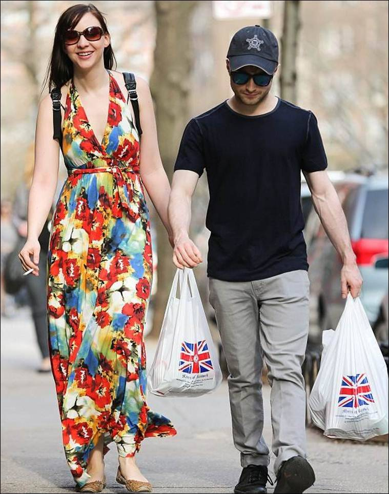 Daniel Radcliffe and Erin Darke on a shopping