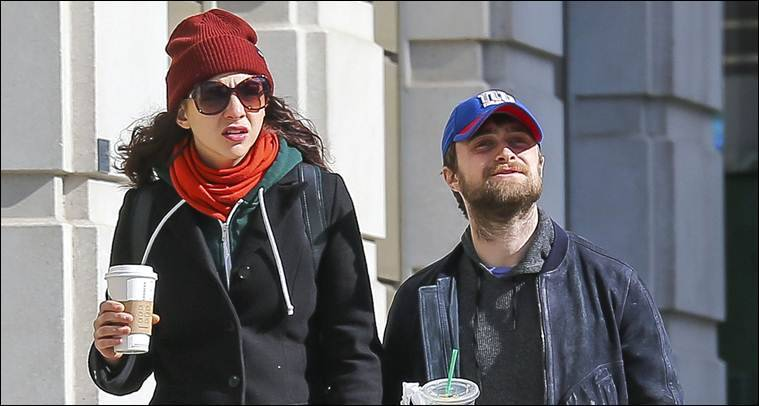 Daniel Radcliffe and Erin Darke in a coffee date