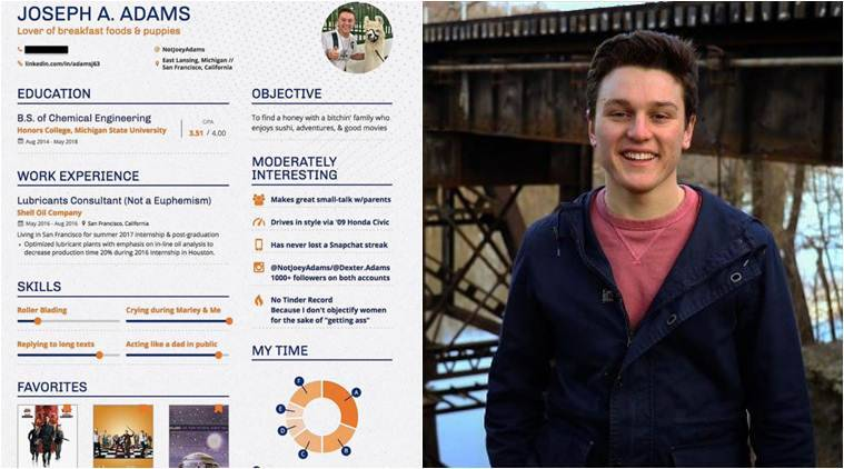this college student made a dating resume posted online and