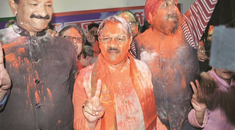 Uttarakhand election results 2017, Uttarakhand poll results, Uttarakhand elections, Harish Rawat, Rawat, Uttarakhand government, BJP, BJP victory, BJP win, election verdict, BJP win celebration, india news
