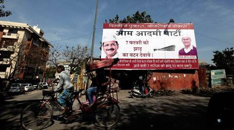 Officials remove 'Aam Aadmi' words from Delhi government schemes, cover Kejriwal's photos
