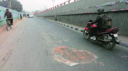 delhi roads, delhi government, delhi roads restoration, indian express, Satyendra Kumar Jain, anil baijal, arvind kejriwal, delhi mcd