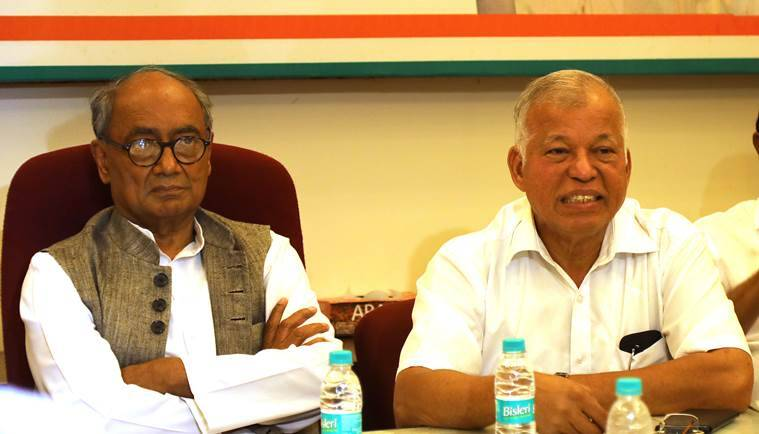 Goa, congress, bjp, digvijaya singh, luizinho faleiro, vijai sardesai, congress bjp protest, goa government, manohar parrikar, news, latest news