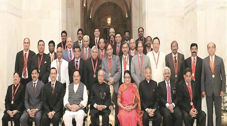 president doctor award, ganga ram hospital, aiims, aiims director, delhi doctor awards, pranab mukherjee, indian express