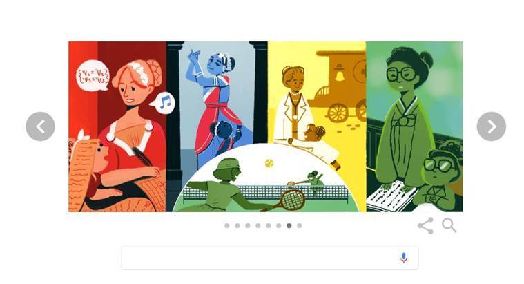 google, google doodle, doodle, womens day, international womens day, womens day doodle, Rukmini Devi Arundale, who is Rukmini Devi Arundale, google doodle today