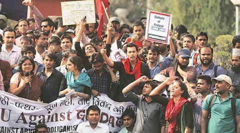 DU protest march: Two 'ABVP men' held after clash outside KhalsaCollege