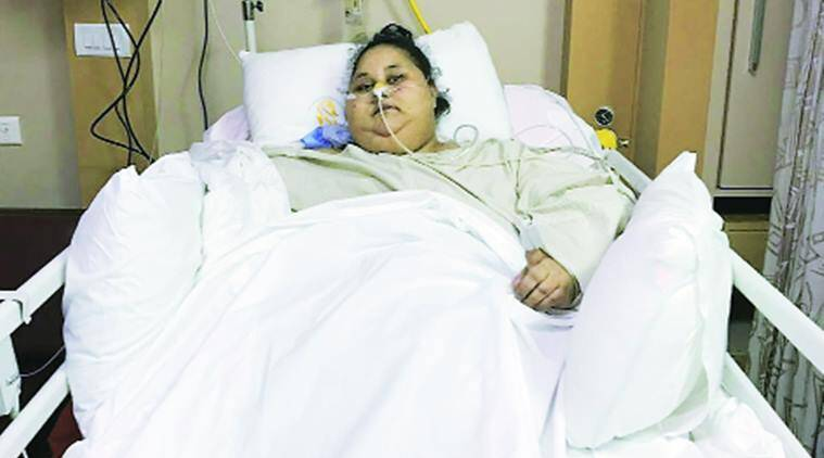 Eman ahmed, eman, world's heaviest women, eman ahmed mumbai, eman ahmed loses 50 kg, Saifee Hospital, eman ahmed egypt, maharashtra news, india news, indian express news