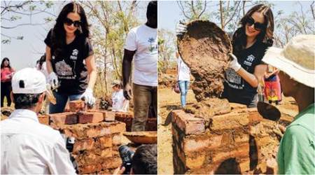 Evelyn Sharma ditches social media, builds homes for the underprivileged in Karjat. See pics