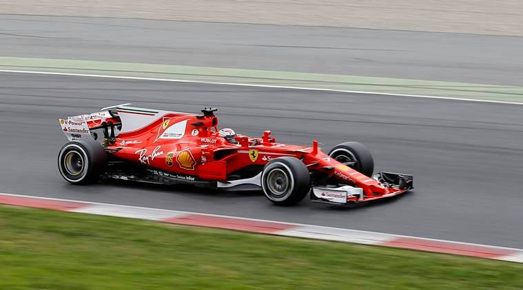 ferrari challenges mecedes as kimi raikkonen edges lewis hamilton in f1 testing the indian express. Black Bedroom Furniture Sets. Home Design Ideas