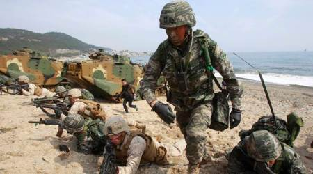 US, south korea, military drill, military exercise, China, north korea ballistic missiles, world news, indian express news