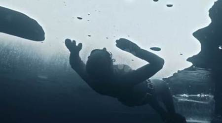 finnish freediver, freediving video, national geographic freediving, Johanna Nordblad, director Ian Derry, national geographic channel, freediving under ice video, indian express, indian express news