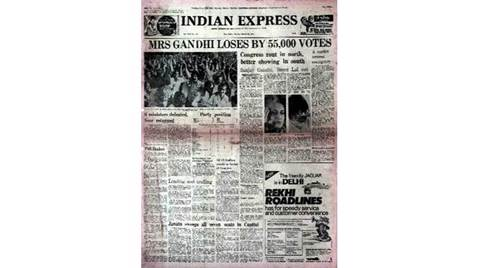 Forty Years Ago, Forty Years Ago indian express, March 21 1977, Indira Gandhi, Indira Gandhi 1977, 1977 elections, latest news, india news