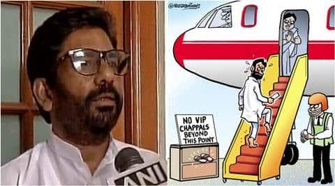 Shiv Sena MP, Ravindra Gaikwad, Air India employee, Air India ban, gaikwad flight ban, hit AI employee, gaikwad banned, india news, indian express news