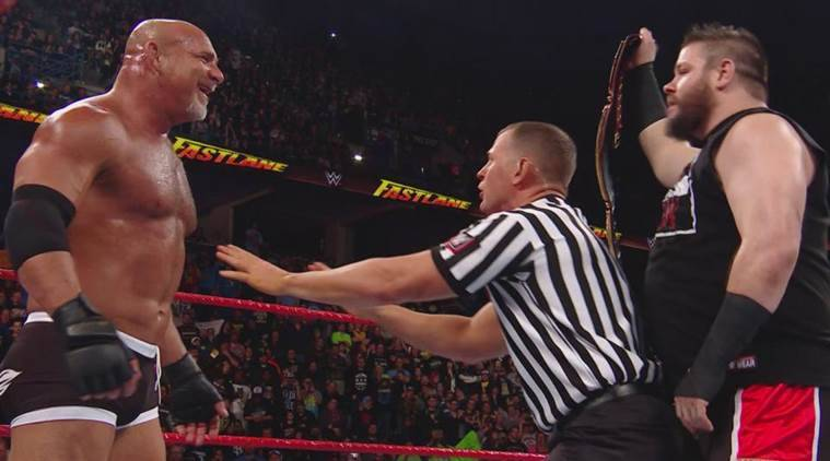 fastlane, wwe fastlane 2017, wwe fastlane, fastlane results, fastlane video highlights, wwe fastlane highlights, goldberg, samoa joe, wwe news, wwe fastlane results, wwe, wwe news