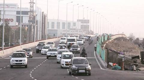 One side of Hero Honda flyover thrown open to public