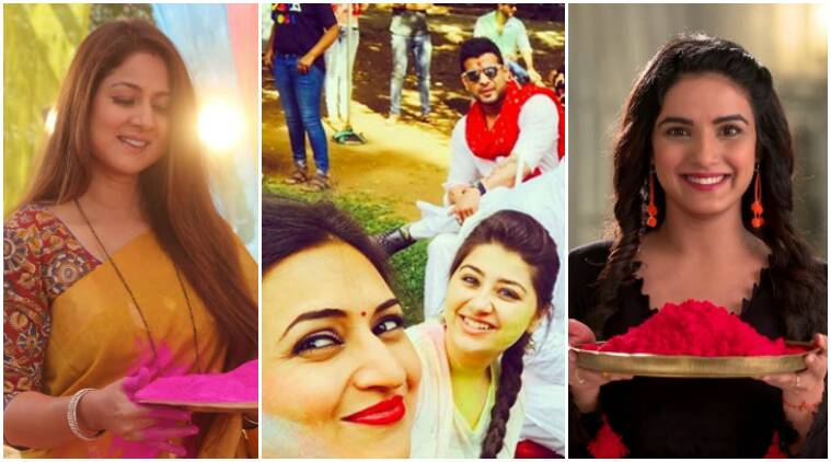 holi celebration on tv shows, holi on tv shows, holi in yeh hai mohabbatein, holi in dil se dil tak, holi in shakti, holi in sasural simar ka, television news, indian express news, indian express