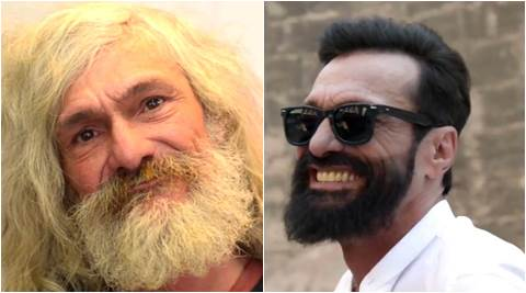 salon gives makeover to a homeless person, salon gives a free makeover to a homeless person, salon in spain changes a homeless person's looks, indian express, indian express news
