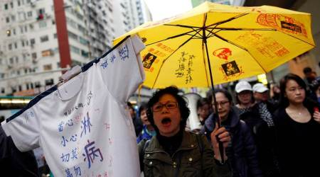 Hong Kong police, Umbrella Movement Hong Kong, Hong Kong Umbrella Movement, Hong Kong Umbrella Movement protest, Xi Jinping, Chinese president, Yellow Umbrella protest, Yellow Umbrella protest Hong Kong, world news, Indian Express