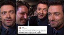 WATCH: That awkward moment when Hugh Jackman recognised someone he taught at school