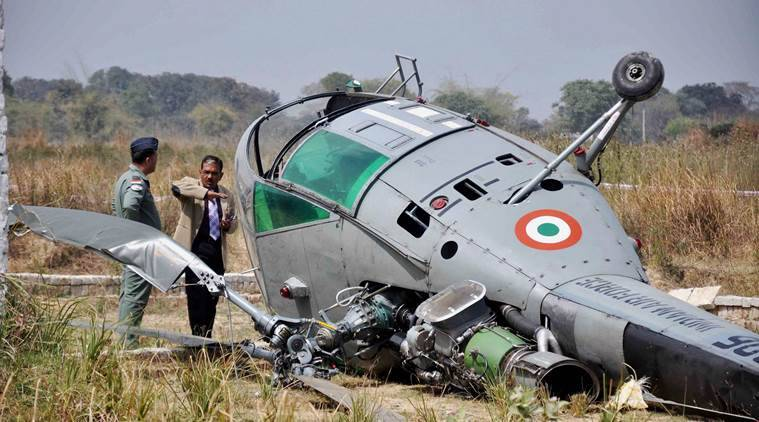 IAF Chetak Helicopter Crashes Near Allahabad; Pilots Safe