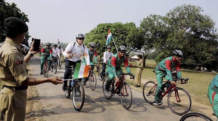 india-bangladesh, cycling expedition, indo-bangla cycling expedition, indo-bangla army, indian army, bangladesh army, india-bangaldesh ties, india news, indian express news