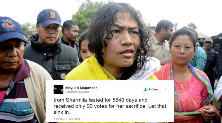election results, Manipur, irom sharmila, manipur election results, up election result, up election result 2017, manipur irom sharmila votes, up election results, punjab election results, indian express, election result, manipur news, india news, latest news