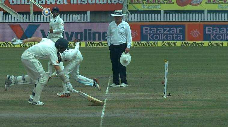 Ravindra Jadeja produced a Dhoni-esque no-look run out