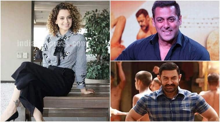 Kangana Ranaut, Salman Khan, Aamir Khan, Shah Rukh Khan, The Indian Express power list 2017, The Indian Express power list