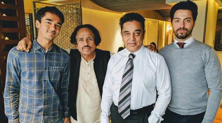 Kamal Haasan in a frame with Micheal Corsale. (Source: Twitter/@DiehardKamalian