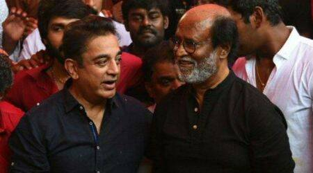 DMK pulls off coup: Rajinikanth, Kamal Haasan attend party event