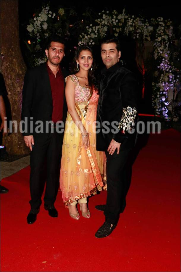 Karan Johar, Karan Johar pics, Karan Johar latest pics, Karan Johar news, Aditya Garware Renu Chainani wedding reception, Karan Johar twins, Karan Johar babies