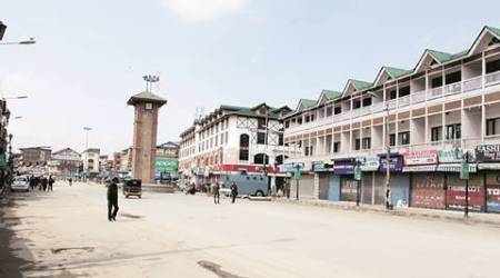 kashmir, kashmir militant attack, militant attack, police office home, house attack, kashmir protest, kashmir unrest, indian express news, india news